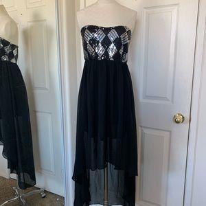 High low black dress!
